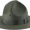 Style: UH-101 Campaign Straw Triple Brim Hat
